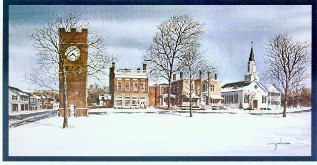 1912 e howard clocktower hudson oh watercolor artist craig petersen